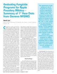Evaluating Fungicide Programs for Apple Powdery Mildew