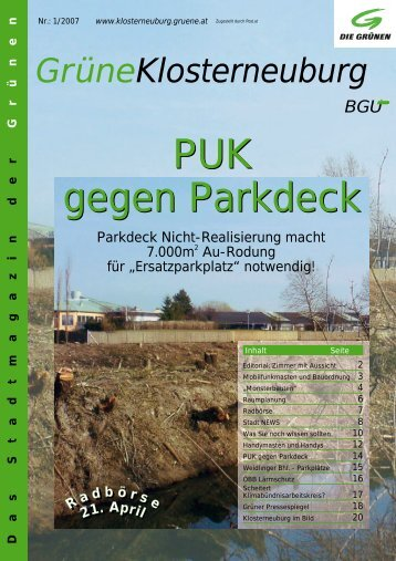 Frühjahr 2007 - buergerunion.at