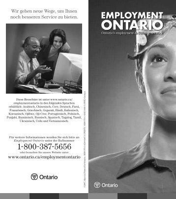 MTCU-18454 Brochure German.indd - Ontario.ca