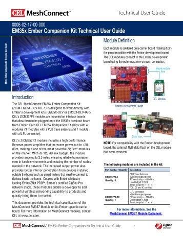 EM35x Ember Companion Kit Technical User Guide - California ...