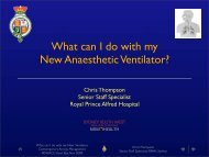 What can I do with my New Anaesthetic Ventilator?
