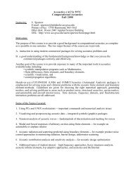 Syllabus Version 1 - Graduate Program in Acoustics