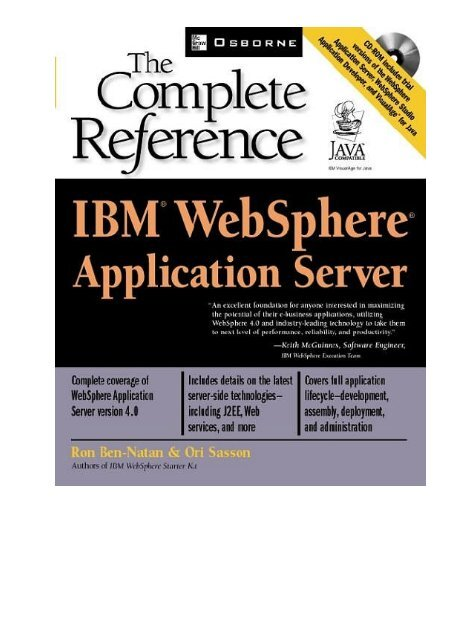 IBM WebSphere Application Server - The Complete Reference pdf