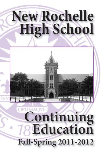 New Rochelle High School - City School District of New Rochelle