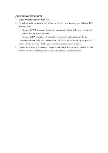 eSTUDIO ENFERMEDAD TROMBOENBOLICA Y DIMERO D