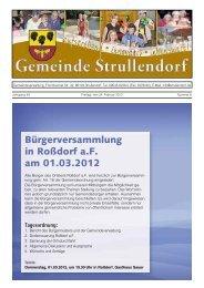 Tagesordnung - Strullendorf