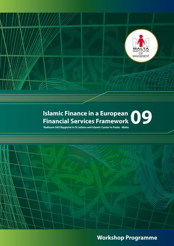 Islamic Finance in a European Financial Services Framework - Assaif