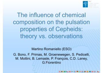 The influence of chemical composition on the pulsation properties of ...