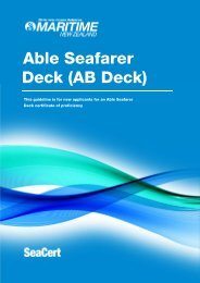 Able Seaman AB Certificate MNZ Guideline - Maritime New Zealand