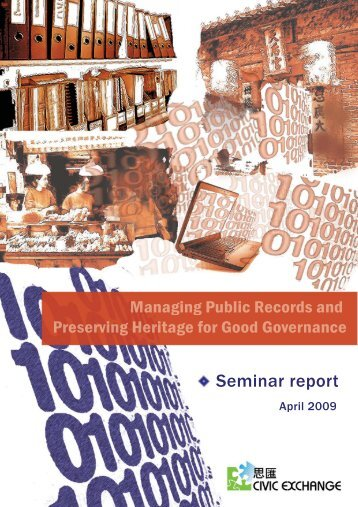 Managing Public Records and Preserving ... - Civic Exchange