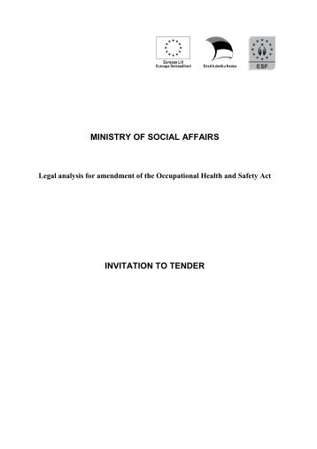 MINISTRY OF SOCIAL AFFAIRS INVITATION TO TENDER