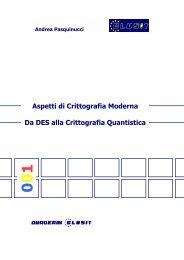 Aspetti di Crittografia Moderna Da DES alla Crittografia ... - Clusit