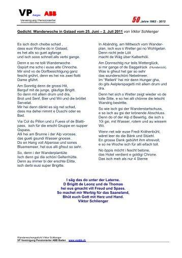 Gedicht: Wanderwoche in Gstaad vom 25. Juni – 2. Juli ... - Vpabb.ch