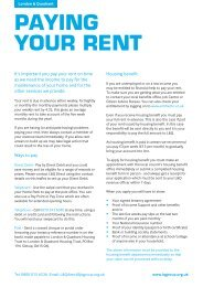 PAYING YOUR RENT - London & Quadrant Group