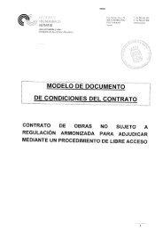 Documento de Condiciones del Contrato - ITACyL