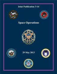 JP 3-14, Space Operations - Defense Technical Information Center