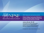 Patient Safety Curriculum Module 5: - National Patient Safety ...
