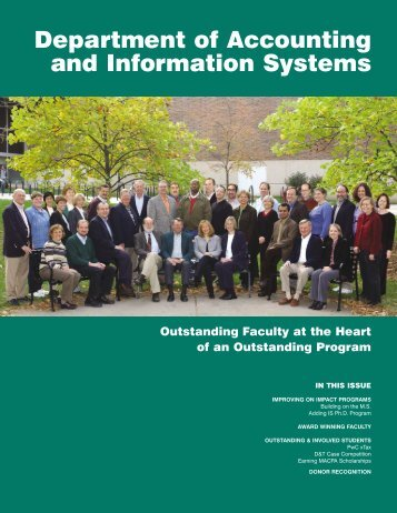 Fall 2003 Magazine (PDF) - Department of Accounting & Information ...