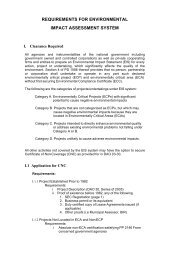 requirements for environmental impact assessment system