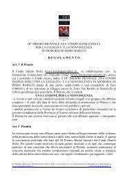 REGOLAMENTO III Premio Bariati - fondo Danilo Dolci