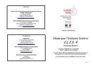C.L.I.S. 4 - Inspection académique du Finistère