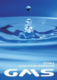 Clean Steam Generators - GMS Thermal Products Ltd