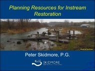 Tools for Restoration Planning and Review - Washington State ...