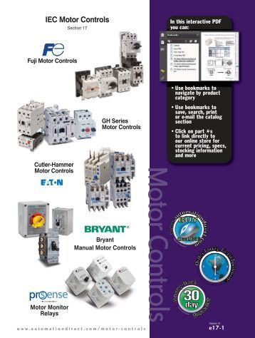 Contactor/ Motor Starters/ Motor Controls ... - Automationdirect