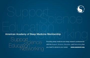 Membership Brochure - American Academy of Sleep Medicine