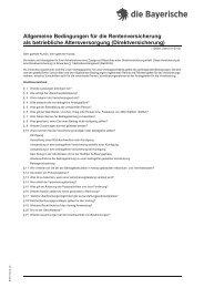 Allgemeine Bedingungen für die Rentenversicherung als ...