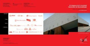 Descargar programa - Sociedad Valenciana de Reumatología