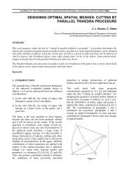 designing optimal spatial meshes: cutting by parallel trihedra ...