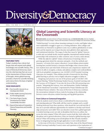 Global Learning and Scientific Literacy at the ... - DiversityWeb