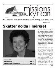 Skatter dolda i mörkret - Missionskyrkan Tibro