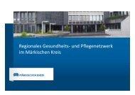 Regionales Gesundheits- und Pflegenetzwerk im Märkischen Kreis
