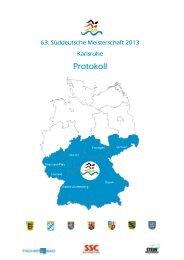 Protokoll - Sport und Schwimmclub Karlsruhe eV