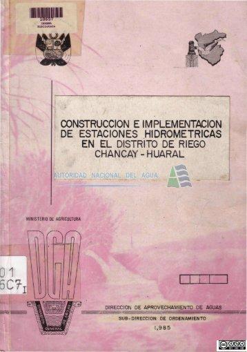 construcción e implementacion de estaciones hidrometricas en el ...