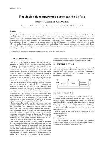Regulación de temperatura por enganche de fase - Universidad ...