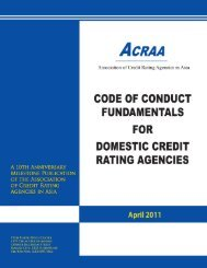 ACRAA Code of Conduct Fundamentals for Domestic Credit Rating ...