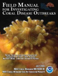 Field Manual for the Investigation of Coral Disease Outbreaks