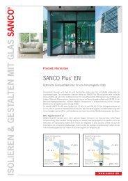 Produktinfo SANCO Plus EN - Glas Porschen GmbH