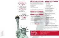 2013 girls leadership brochure - Nicholls State University