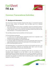 Common Transnational Activities - Alpine Space Programme