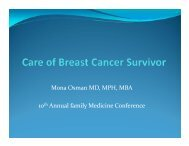 Care of the breast cancer survivor