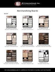 24x28 Display Boards - MSI Stone