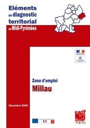 zone d'emploi de Millau - Carif Oref Midi-Pyrénée