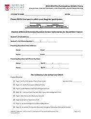 UA Athletic Paperwork- Crew, Lacrosse, Cheer & Rangerettes