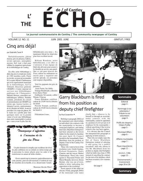 ECHOcantley.juin 01 - Echo of Cantley / Écho de Cantley