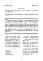Effects of tributyltin chloride in ascidian embryos - Invertebrate ...