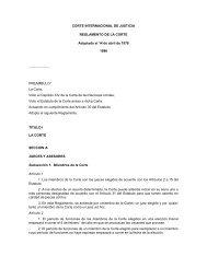 reglamento de la corte internacional de justicia - ANTONIO VARON ...